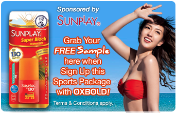 Free Sunplay Sample when sign up Windsurfing Lesson with OXBOLD